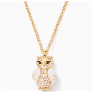 Kate Spade owl necklace